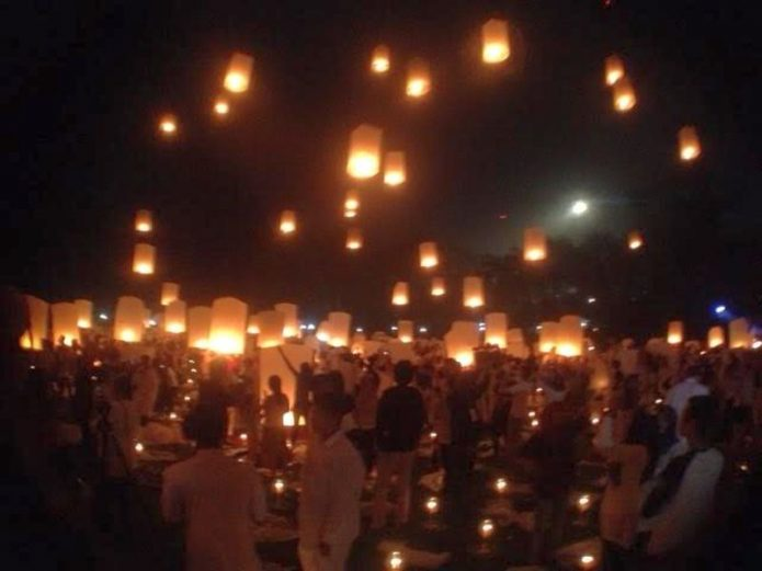 Euforia Wisatawan Dunia di Momen Pelepasan Lapion Candi Borobudur