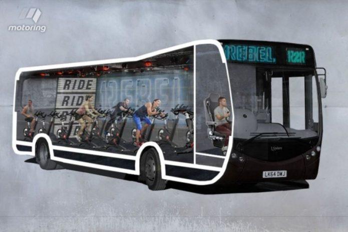 Di London, Kabin Bus Dibuat Tempat Kebugaran Berjalan