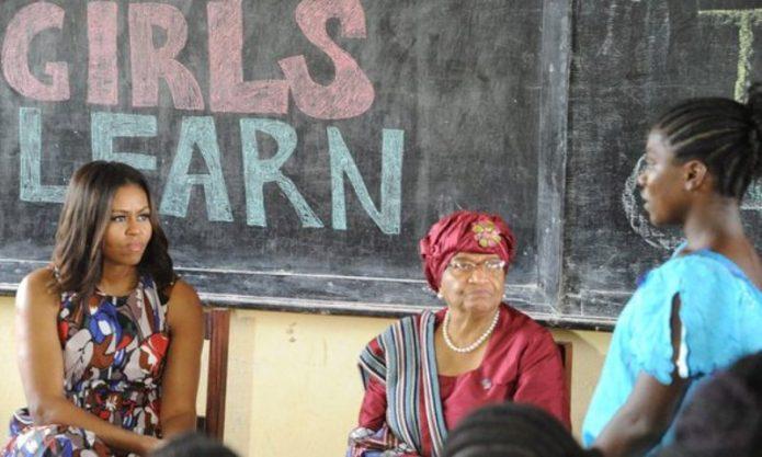 Michelle Obama Minta Siswa di Liberia Tidak Putus Sekolah