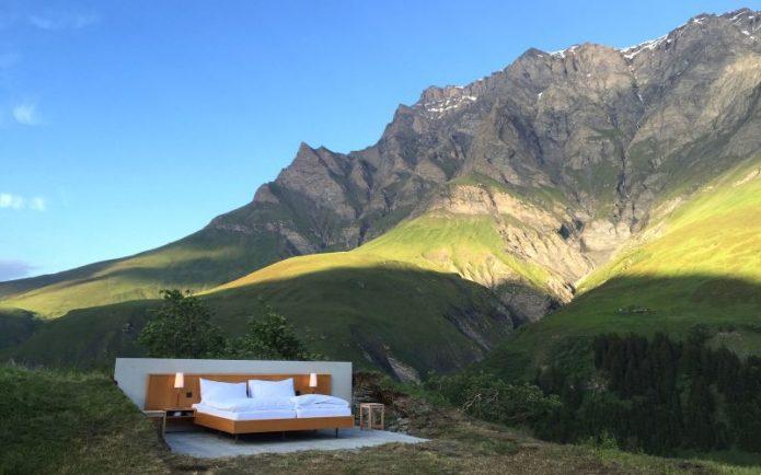 Kamar Hotel di Swiss Ini Tanpa Dinding & Atap