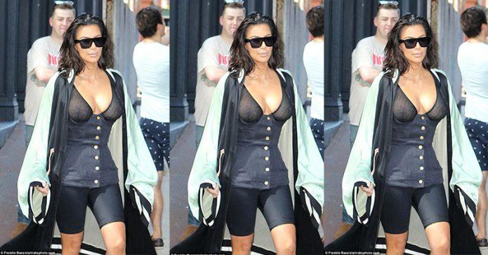 Astaga, Kim Kardashian Umbar Puting Payudara lagi!