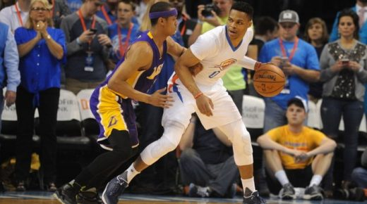 Russell Westbrook, Aktor Kemenangan OKC atas LA Lakers