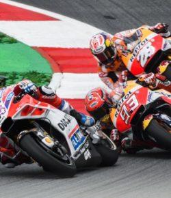 Terlibat Duel Sengit dengan Marquez, Dovizioso: Itu Balapan yang Gila