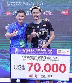 Berita Bintang – Anthony Juara China Terbuka, Pelatih: Itu Balasan Latihan Keras dan Perjuangan